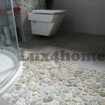 Green Pebble tiles Ideas - walls floors