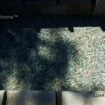 Green pebble tile outdoor