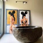 River Stone Bathtub - Bathroom interior