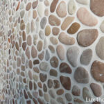 Pink pebble stones - bathroom