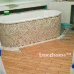 White Pebble Mosaics Ideas