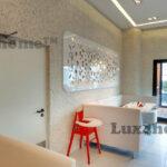 White prbble tiles wall - white pebble mosaics