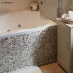 Beige Pebble Tiles Bathroom