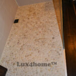 Beige Pebble Tile - Pebble shower wall