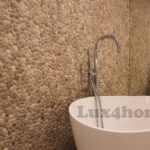 Beige Pebble Tiles - Pebble Bathroom walls