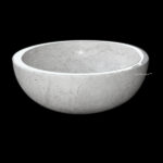 Round countertop marble sink