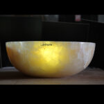 Lighted Onyx Sinks - Illuminated Onyx Washbasin