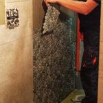 Granite Pebble Tiles Shower