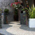 Mixed Pebble tile outdoor ideas - pebble floor (4)