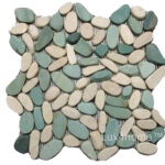 Natural Pebble Tile sliced collection