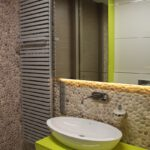 Pebble Tiles - bathroom wall