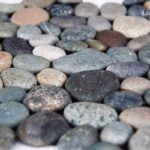 mixed pebble tile Dark Ocean