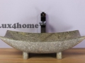 rectangular marble sink