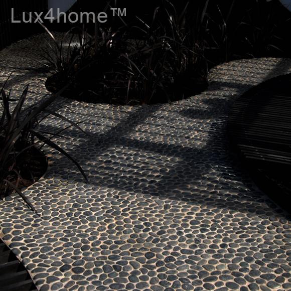 Black Pebble Tiles Outdoor Ideas