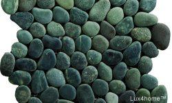 Black Pebble Tile Mosaic Ideas