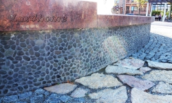 Black Pebble Tile Fountain - Pebble Tile inspirations