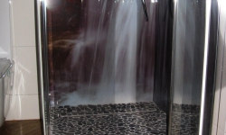 pebble tiles shower