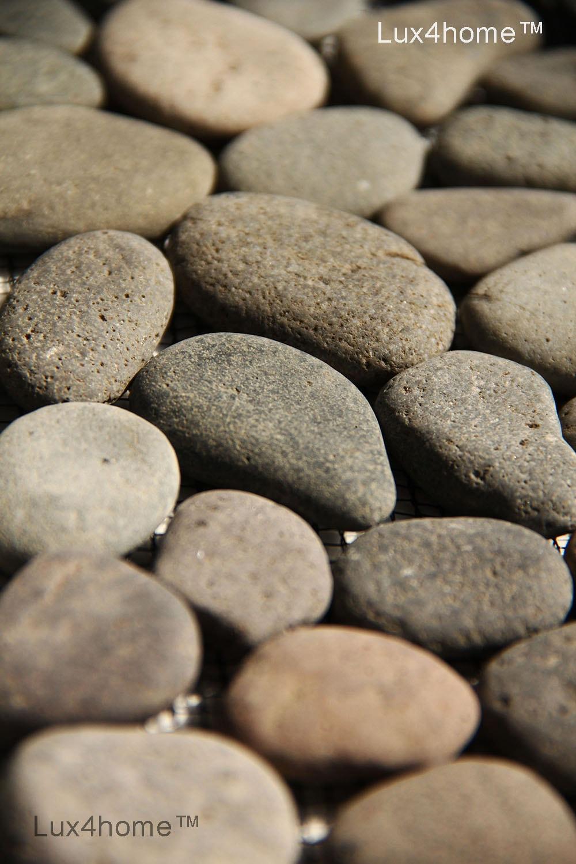 Brown Pebble Tile Bali Black Grey Lux4home Com