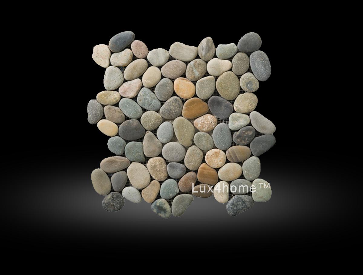 Multicolour Pebble Tiles Panu Brown Grey Pebble Lux4home Com