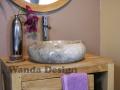 Grey marble Sinks - Marble Stone Wash basins