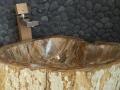 Petrified Wood Bathroom Sinks