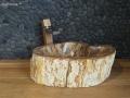 petrified wood sink