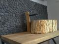 petrified wood wash basin