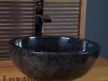 Black grey marble sinks - marble wash basins