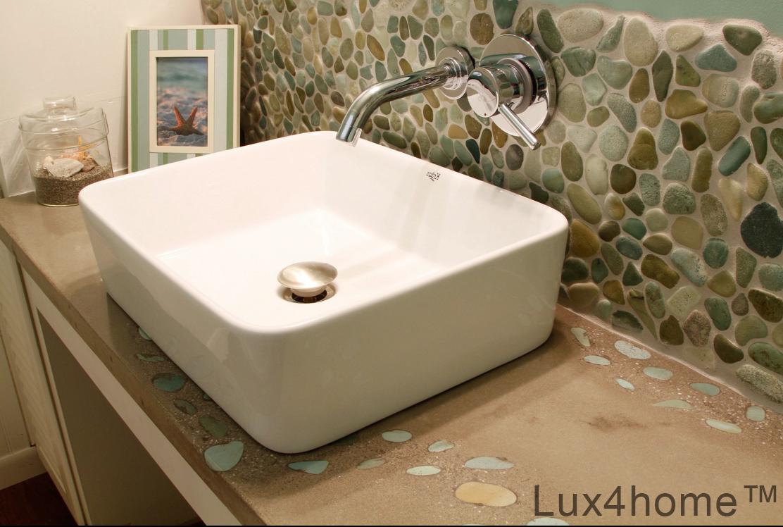 Bathroom Pebble Tiles Ideas   Bathroom Pebble Wall
