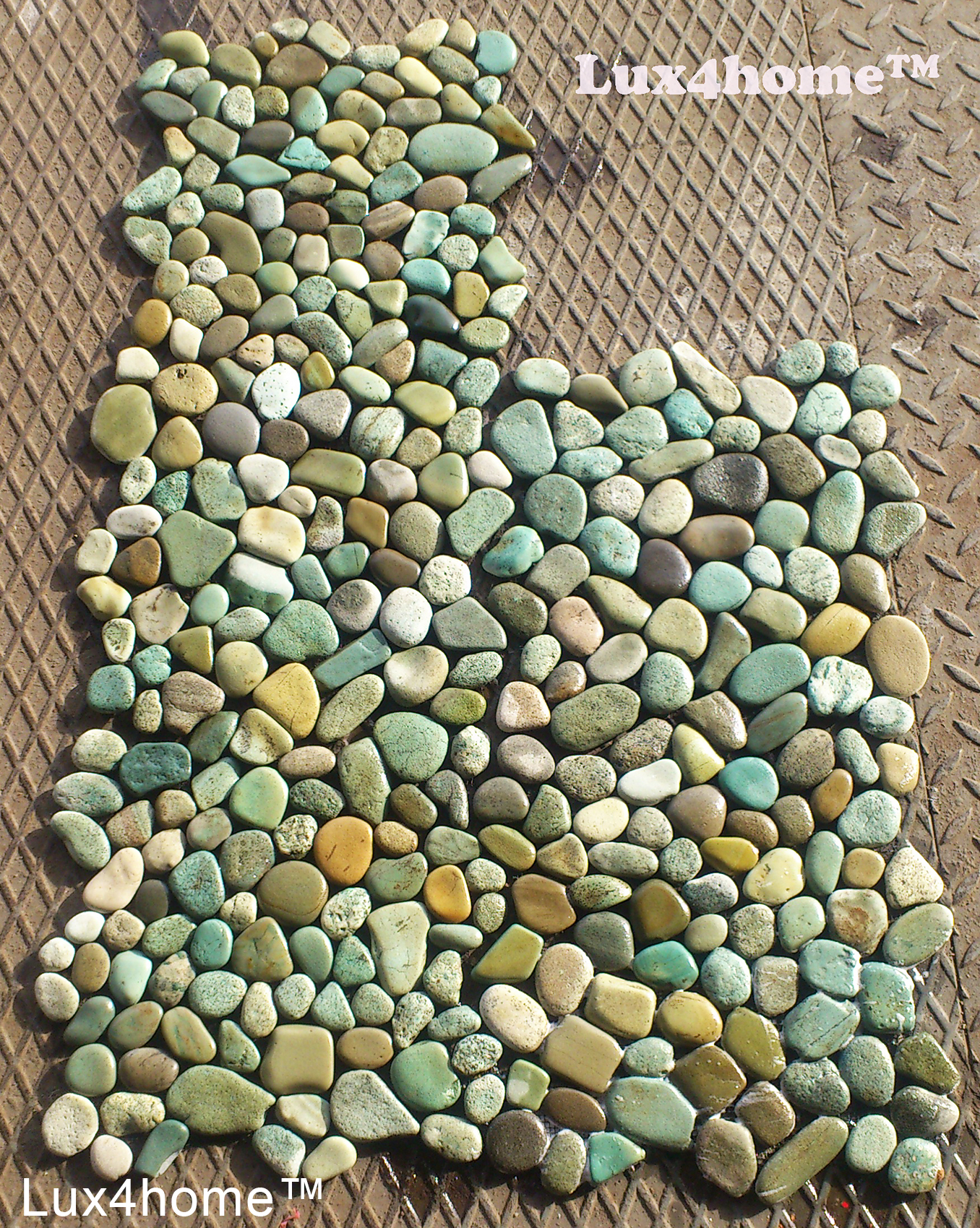 Green Pebble Tiles Taipei Green 30x30 Cm Lux4home Com