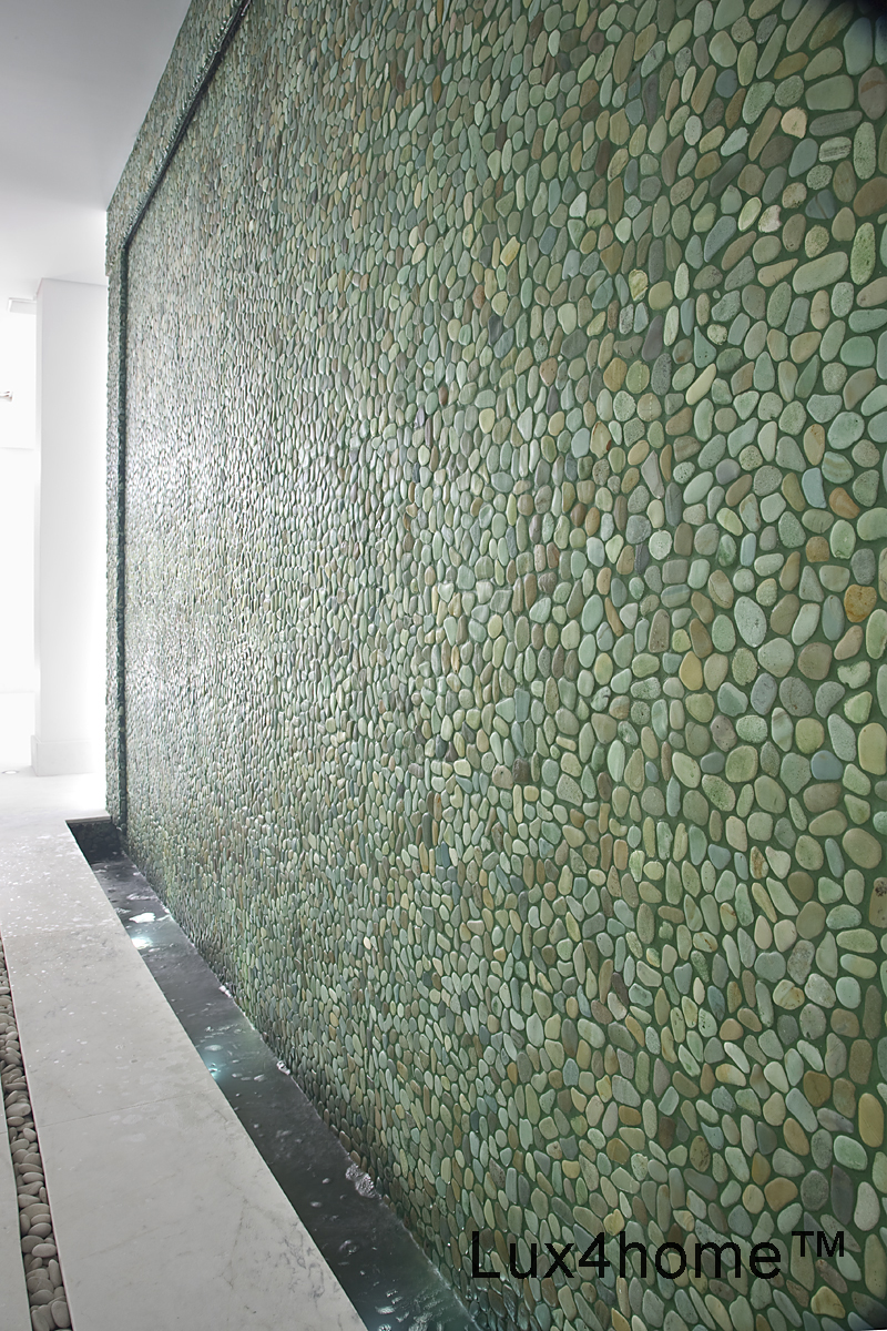 Green Pebble Tiles Taipei Green 30x30 Cm Lux4home Com