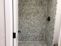 Green Pebble Tile Shower Bathroom