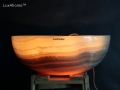 Illuminated Stone Basin - Amber onyx Sinks