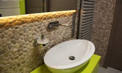 beige pebbles - Bathroom Wall Pebble Tiles