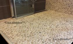 Beige Pebble Stone Mosaic Tile