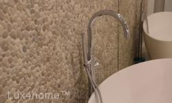 Beige Pebble Tiles - Pebble Bathroom walls
