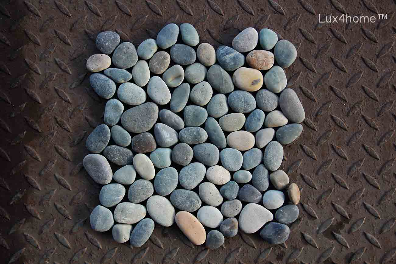Mixed Pebble Tiles On Walls Amp Floors Lux4home Com
