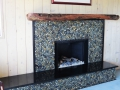 Mixed Pebble Tile fireplace ideas