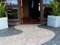 Mixed Pebble tile outdoor ideas - pebble floor