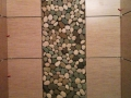 2 Colors Pebble Tile - White Green Pebble Shower