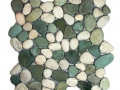 Green-and-White-Pebble-Tile Mosaic Indonesia
