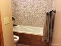 Pebble Tile Bathtub Wall - Pebble Bathroom Wall