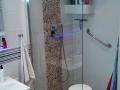 Violet pebble Tile Shower idea - Bathroom pebble