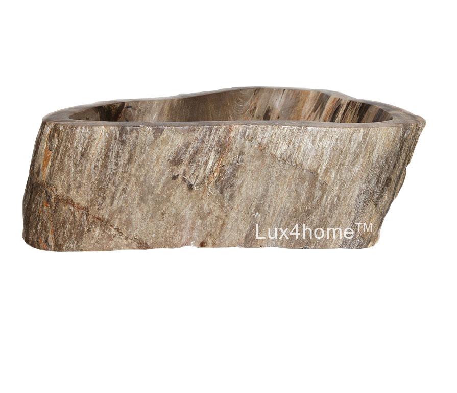 Petrified wood sink - fossil wood sink