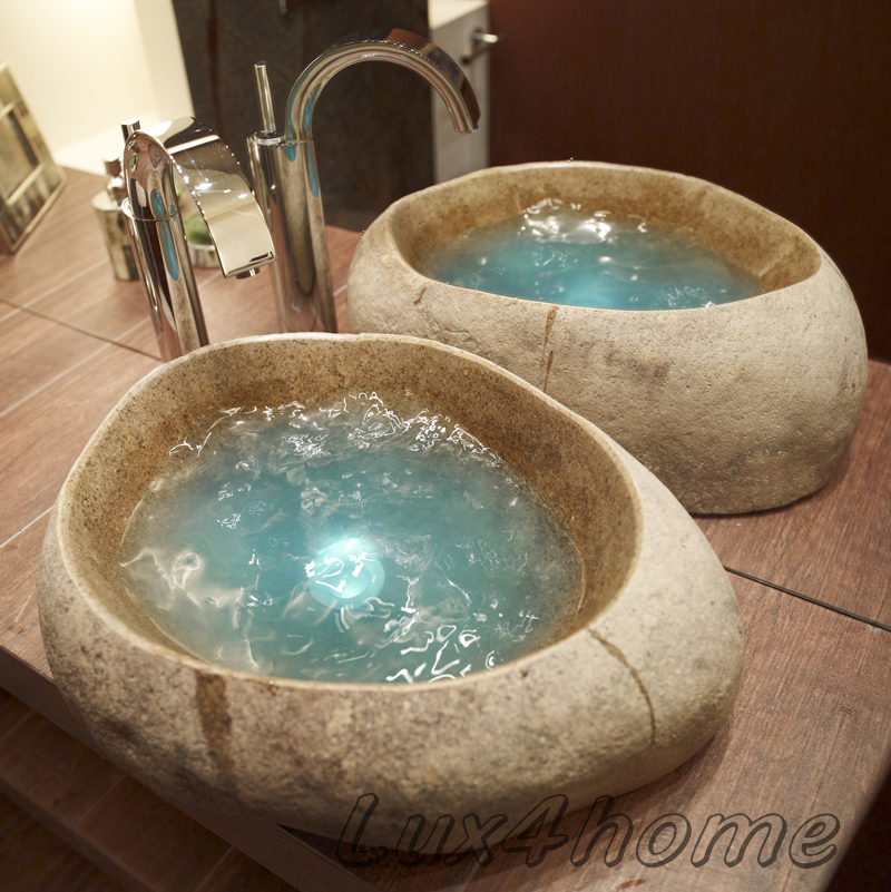 Natural river stone sink