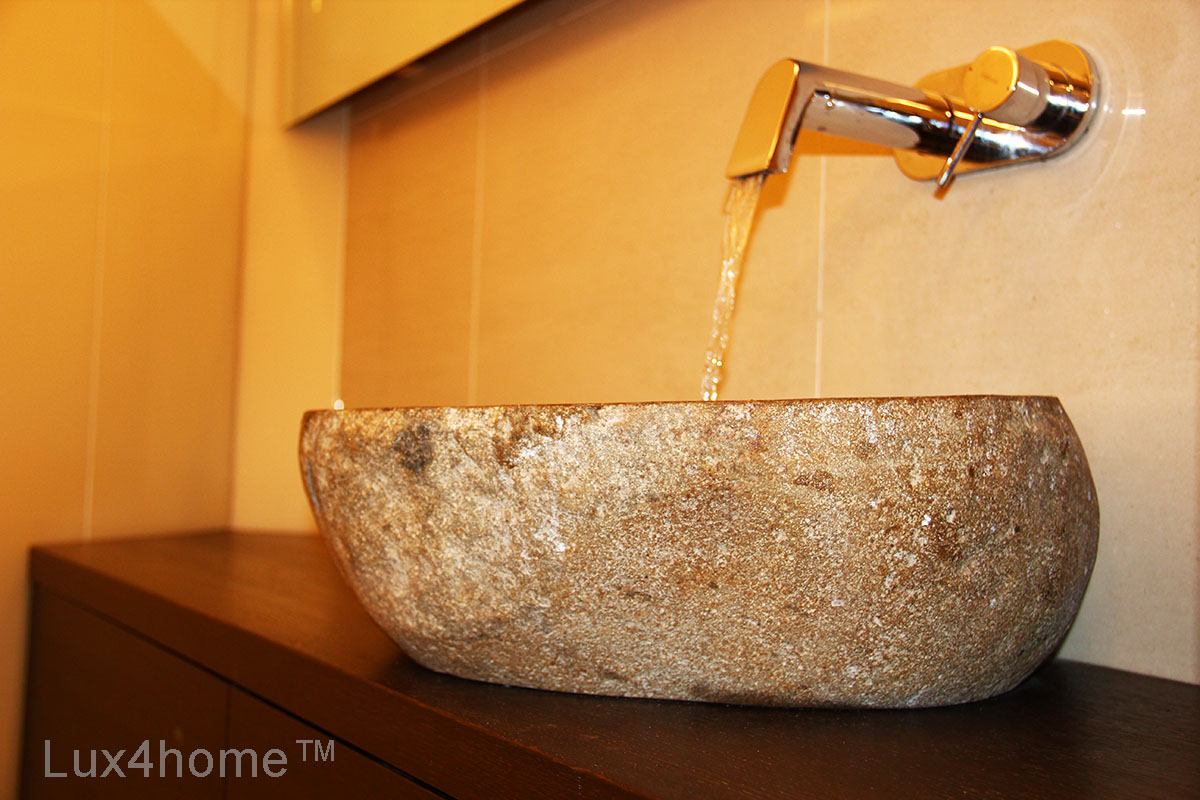 Natural River Stone Sink Welcome To Lux4home Lux4home Com