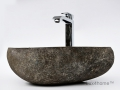 Pebble stone vessel sink producer