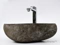 Pebble stone vessel sink producer