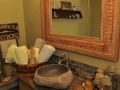 River stone vessel sink bathroom - natural stone sinks