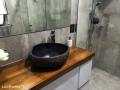 river stone sink bathroom - stone washbasin